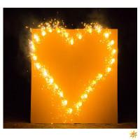 Brennendes Herz für Hochzeit